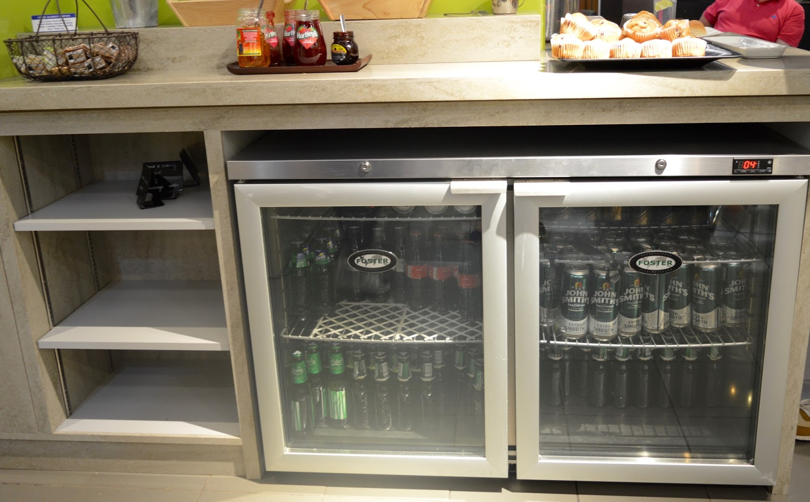 Is it worth booking an Escape VIP airport lounge for breakfast at Manchester airport if you have a morning flight?  - beer and cider fridge