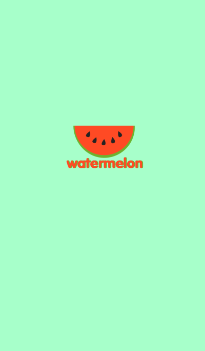 Simple watermelon theme