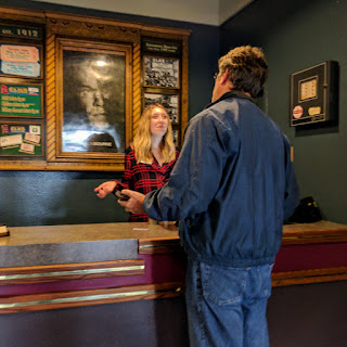 friendly and competent employee at Elks Theater in Rapid City, South Dakota