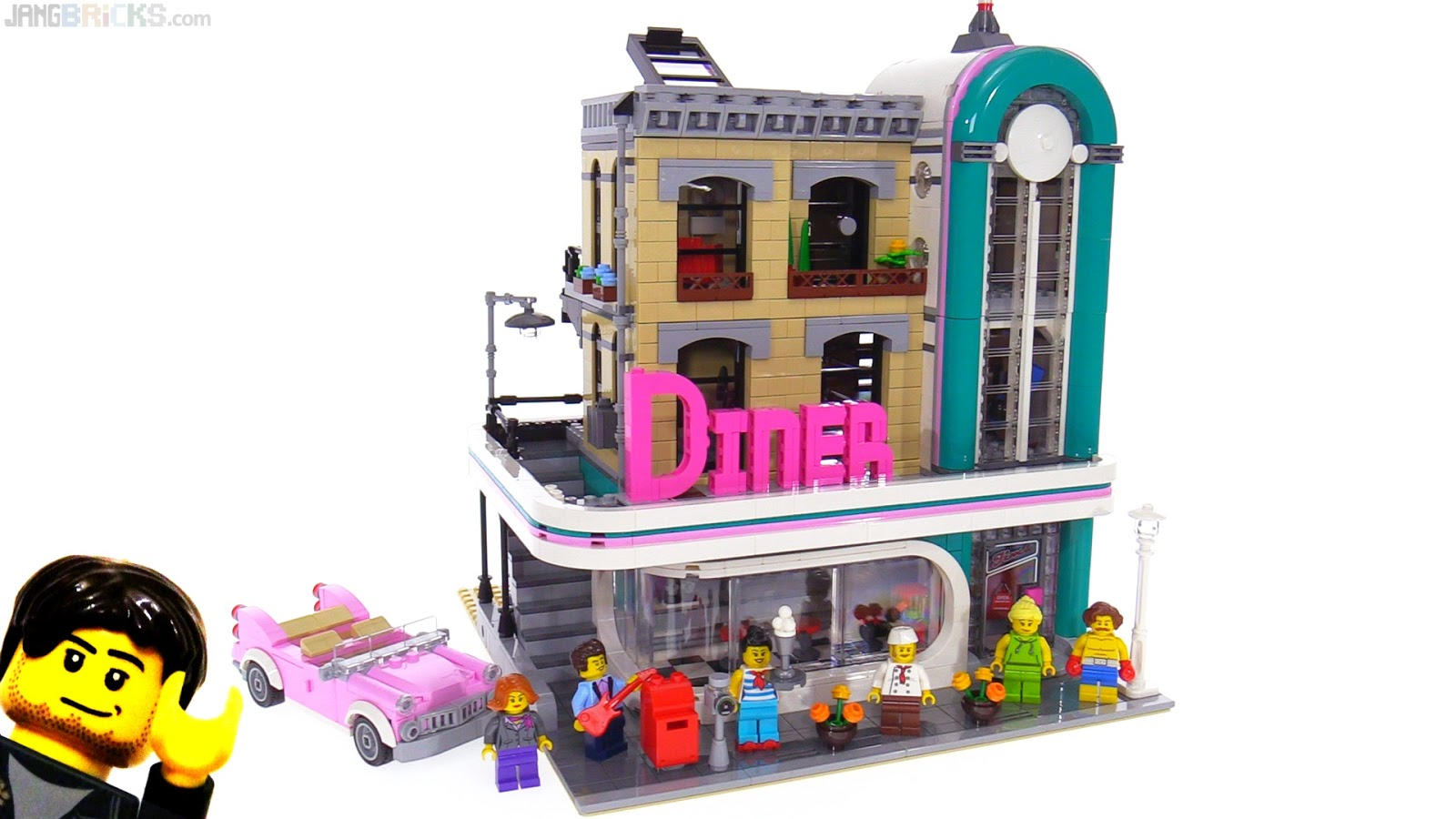 lego creator downtown diner 10260 review. Black Bedroom Furniture Sets. Home Design Ideas