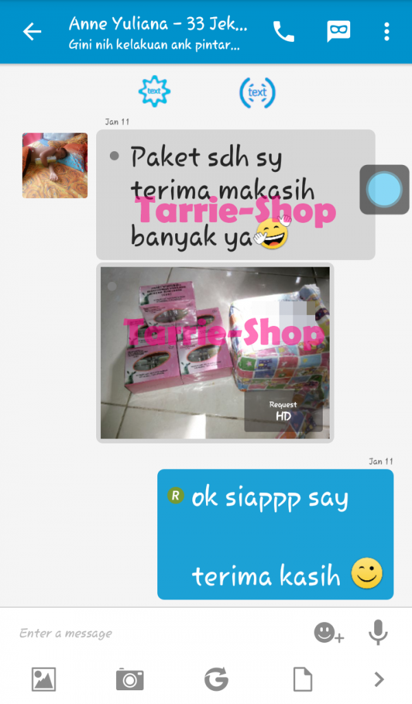 Testimoni Customer Tarrie Shop
