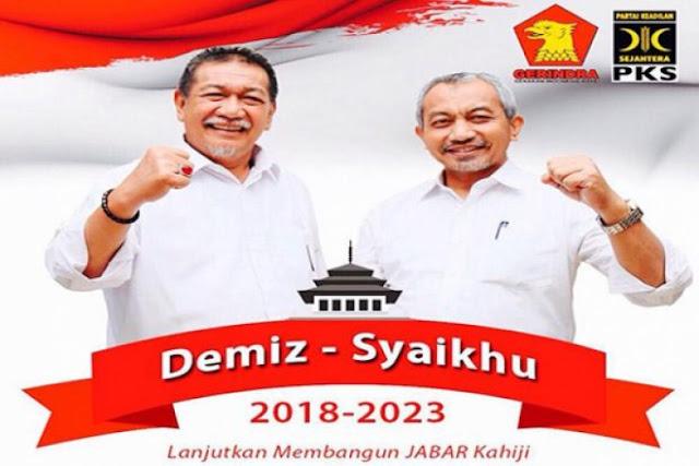 Gerindra-PKS Resmi Usung Deddy Mizwar-Syaikhu di Pilgub Jabar 2018