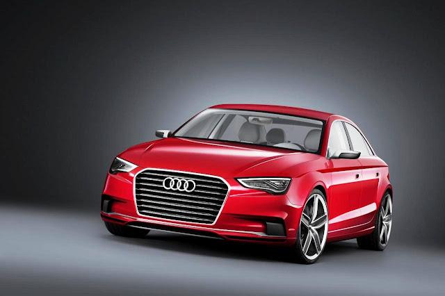 Walpaper mobil Audi merah