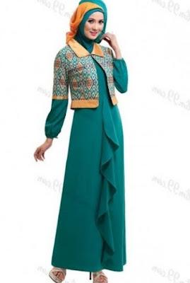 Ide baju batik kerja wanita fashionable