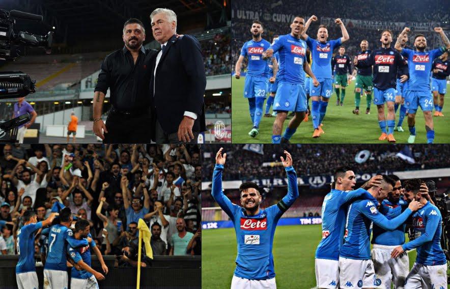 Anticipo Serie A: Il Napoli ha battuto in rimonta il Milan per 3-2 e raggiunge la Juve in testa alla classifica.