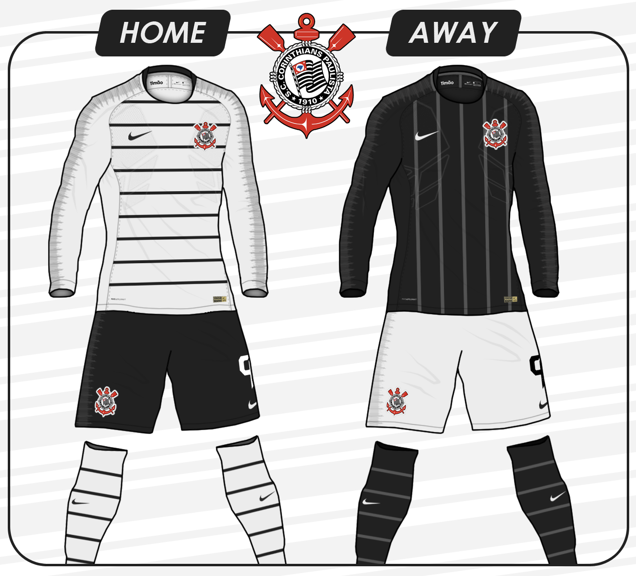 4f37ef433 Corinthians - Home and Away kits (Nike 2018 19 Template)