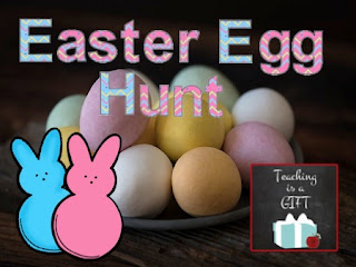 Picture of Classroom Easter Egg Hunt from http://teachingisagift.blogspot.ca