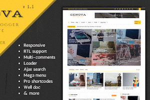 Genova - News And Magazine Blogger Theme