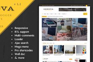 Genova - News And Magazine Blogger Theme