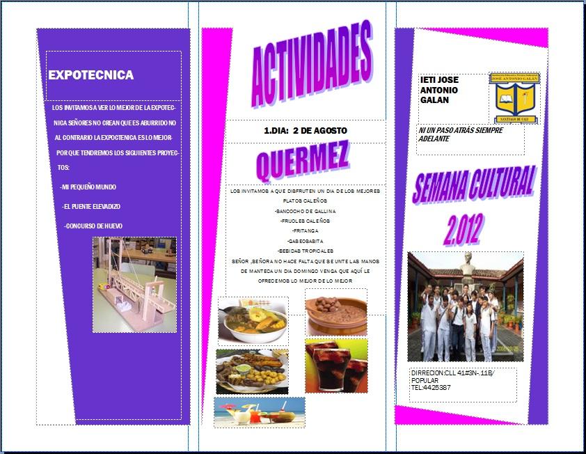un folleto