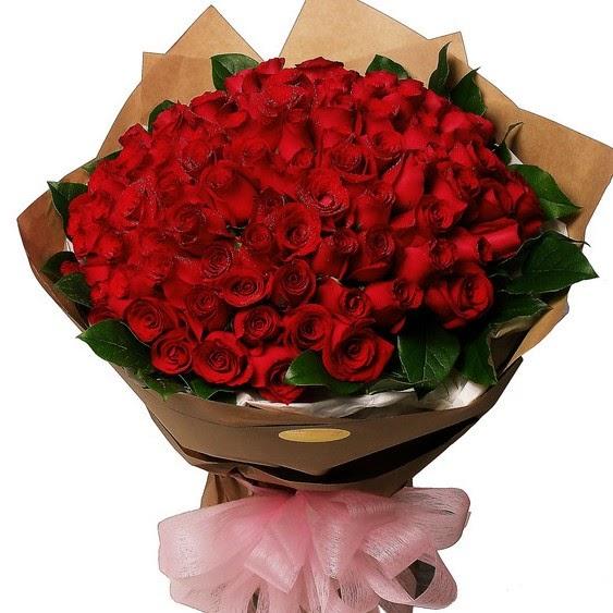 bunga mawar 100 tangkai