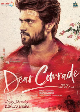 Poster Of Free Download Dear Comrade 2019 300MB Full Movie Hindi Dubbed 720P Bluray HD HEVC Small Size Pc Movie Only At worldfree4u.com
