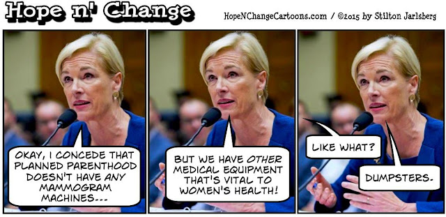 obama, obama jokes, political, humor, cartoon, conservative, hope n' change, hope and change, stilton jarlsberg, cecile richards, planned parenthood, dumpsters