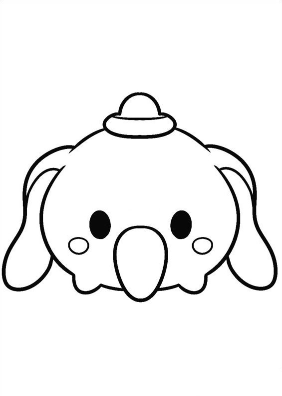 Coloring pages of Tsum Tsum by kids n fun