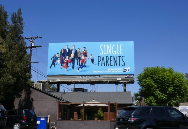 Single Parents series launch billboard