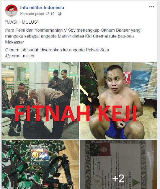 Mengaku Banser, lalu Mengaku Marinir TNI, lalu Diviralkan Kaum Pemfitnah