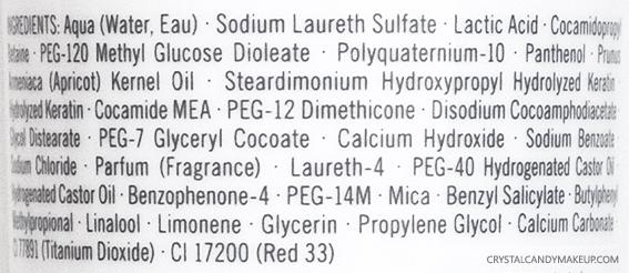 Schwarzkopf Professional BC Color Freeze Rich Shampoo Ingredients