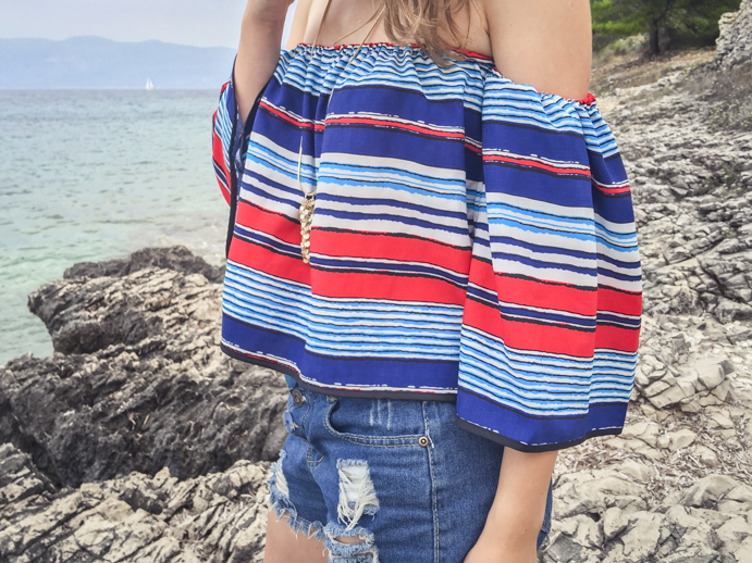 Off-shoulder blouse for summer