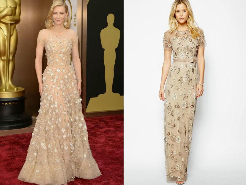 Cate Blanchett, Cate Blanchett Oscars 2014, Cate Blanchett Armani Prive, Oscars 2014 red carpet, Oscars 2014 best dressed list, Steal red carpet style, celebrity look for less. Needle and Thread Petal maxi Dress