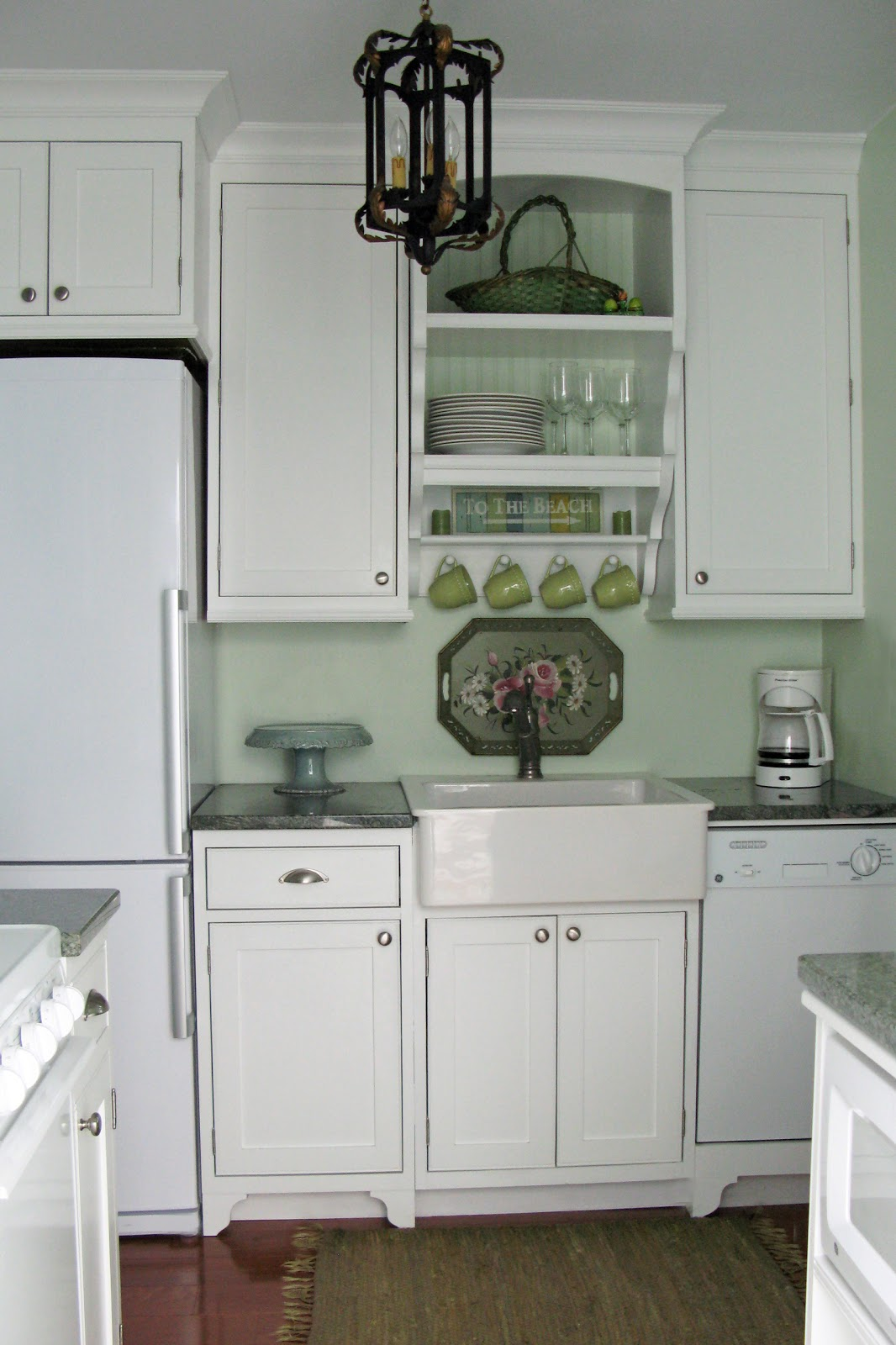 cottage kitchen cabinets kate spade just grand beach before and after