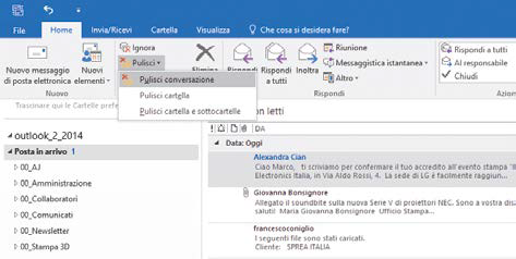 Come cancellare i doppioni posta email outlook