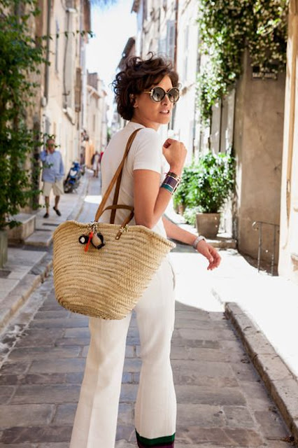 summer style :  Straw Handbags and Purses