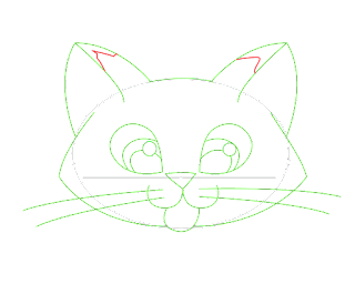 HOW TO DRAW A Kitten Face