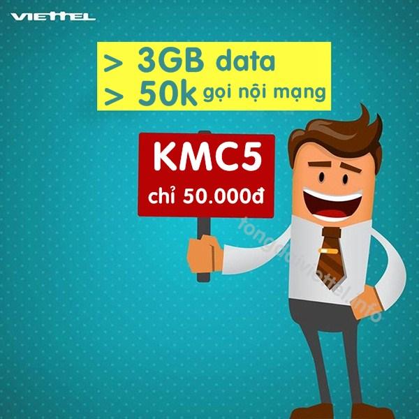Cách đăng ký gói cước KMC5 mạng Viettel