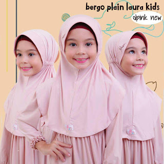 jilbab anak miulan bpl kids dusty pink