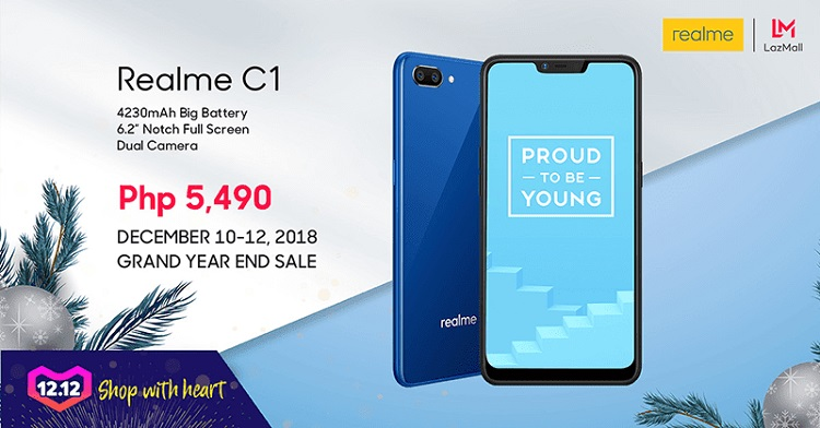 Score the Realme C1 for only Php5,490 on 12.12 Grand Year End Sale