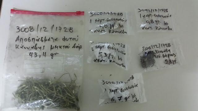 Συνελήφθη 32χρονος για καλλιέργεια δενδρυλλίων κάνναβης και κατοχή ναρκωτικών