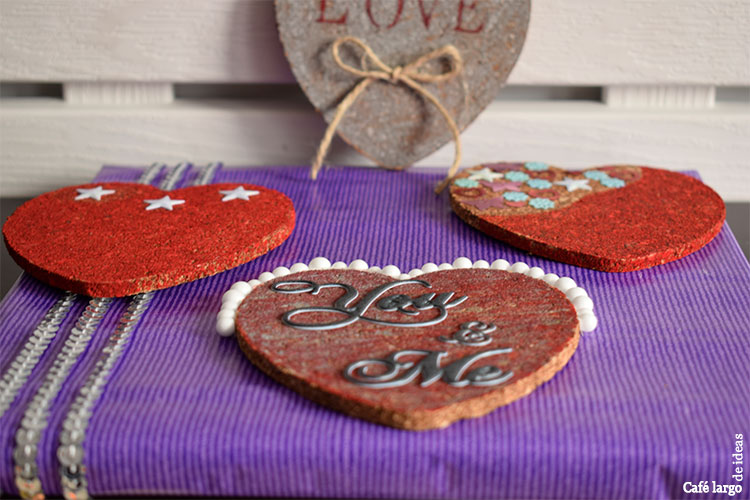packaging handmade con corazones