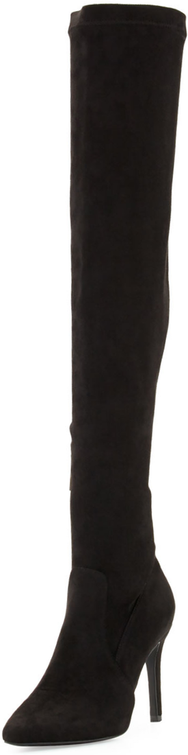 Joie Jemina B Faux-Suede Over-the-Knee Boot, Black