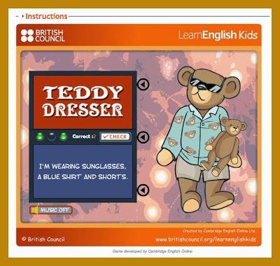 http://learnenglishkids.britishcouncil.org/en/fun-games/teddy-dresser