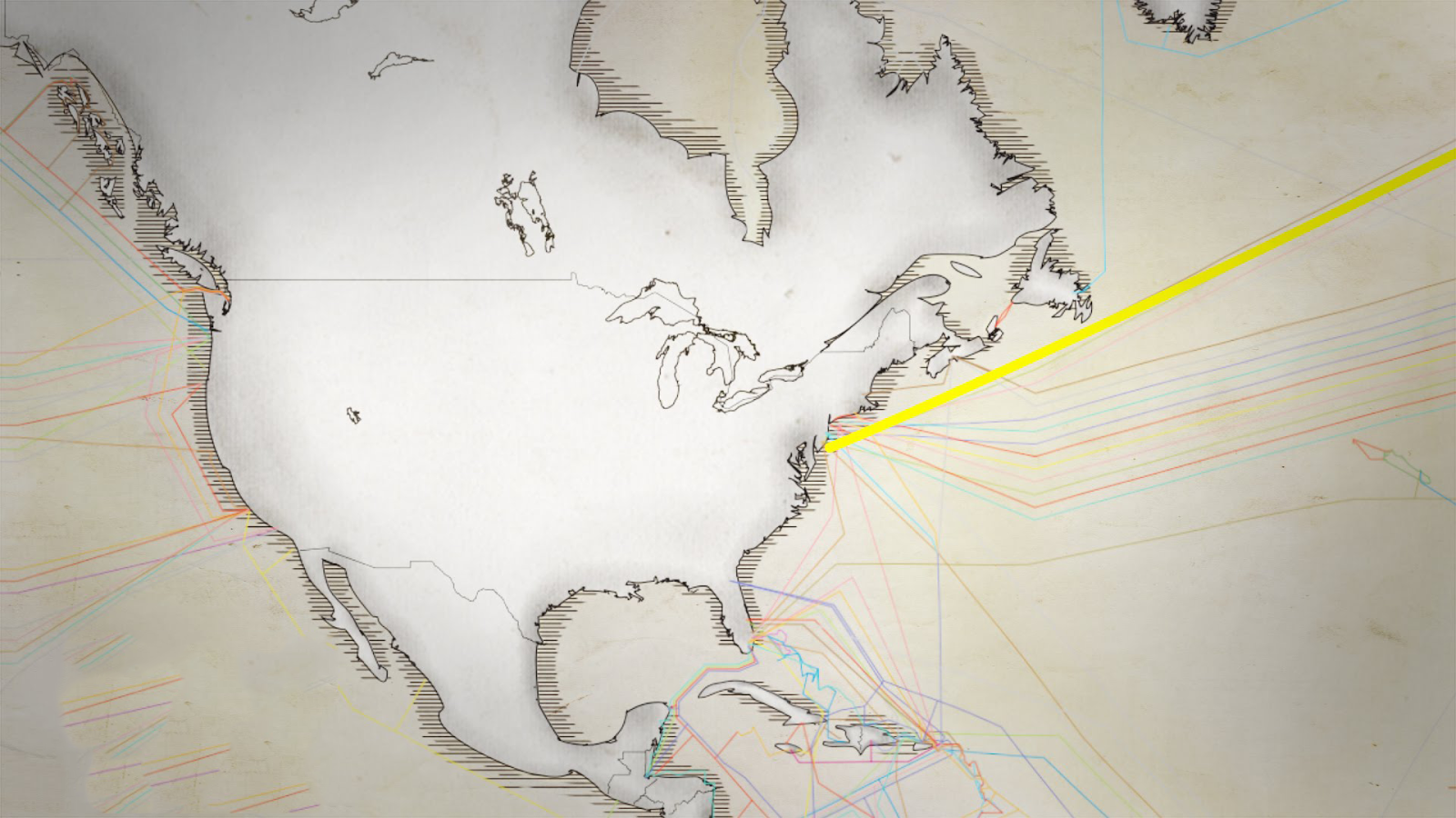 Thin underwater cables hold the internet. See a map of them all. [video]