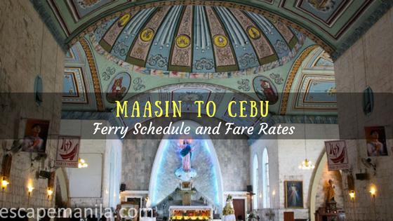 Maasin to Cebu ferry schedule