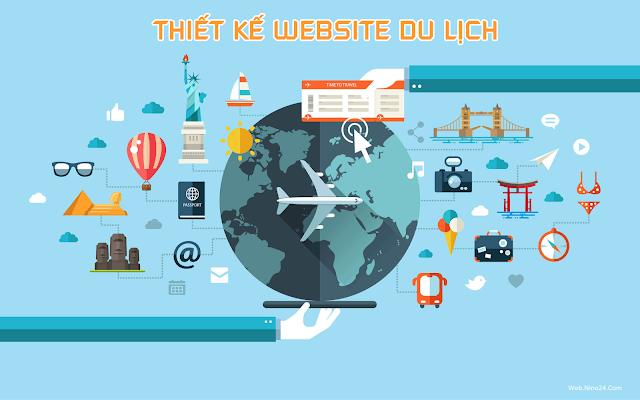 Thiết kế website du lịch đẹp chuyên nghiệp