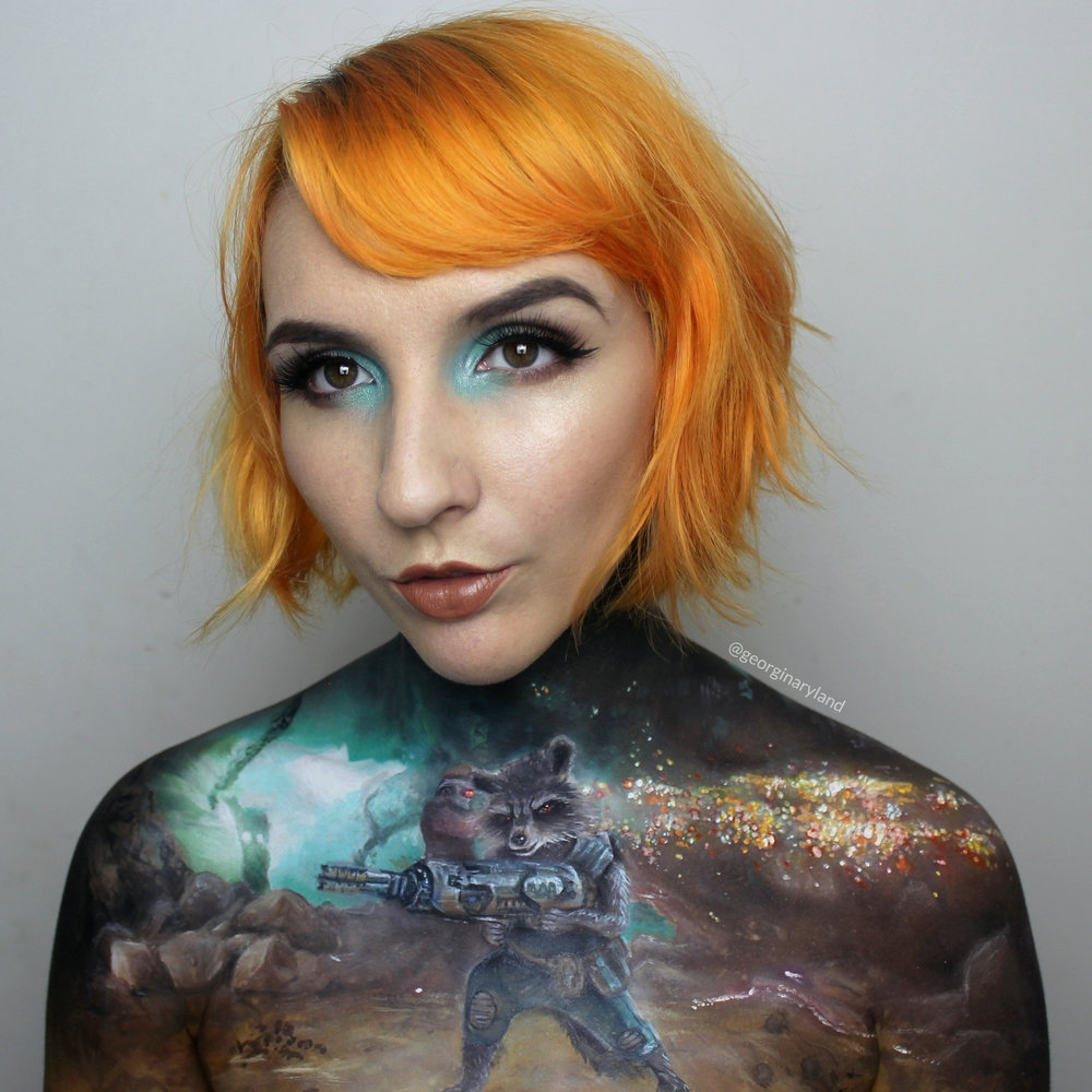 06-Guardians-Of-The-Galaxy-Vol-2-Georgina-Ryland-Fantasy-and-Movie-Makeup-Paintings-on-your-body-www-designstack-co
