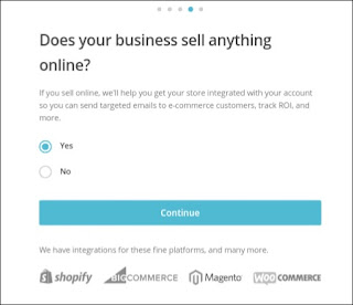 selling business details for mailChimp account