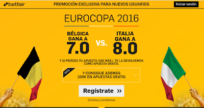 betfair Belgica o Italia ganan supercuota Eurocopa 2016 13 junio