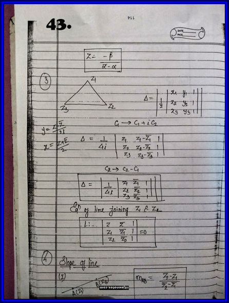 IITJEE Competition Notes On Complex Number 43