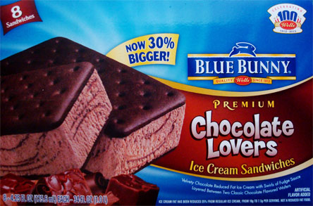On Second Scoop Ice Cream Reviews Blue Bunny Sandwiches Simply Vanilla And Chocolate Lovers