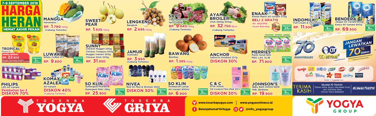 Yogya - Katalog Promo Harga Heran Akhir Pekan Periode 07 - 09 September 2018