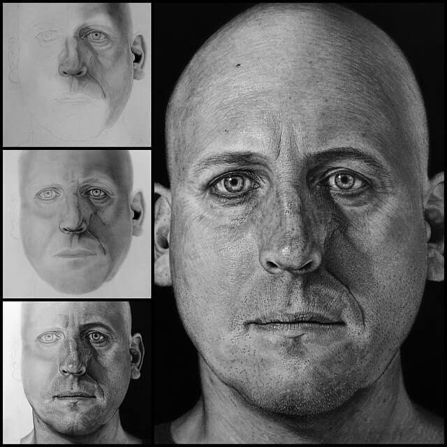 09-A-Friend-Justin-Cohen-Realistic-Portrait-Drawings-WIP-www-designstack-co