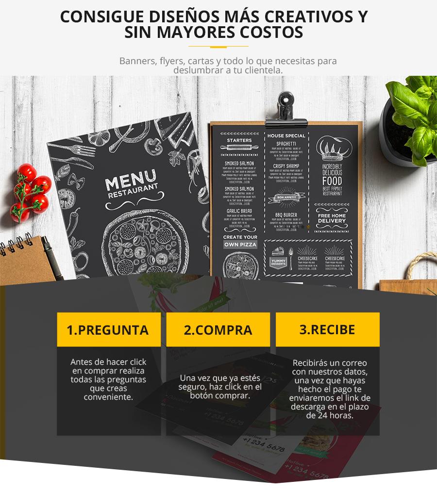 Plantillas de diseño para tu restaurant