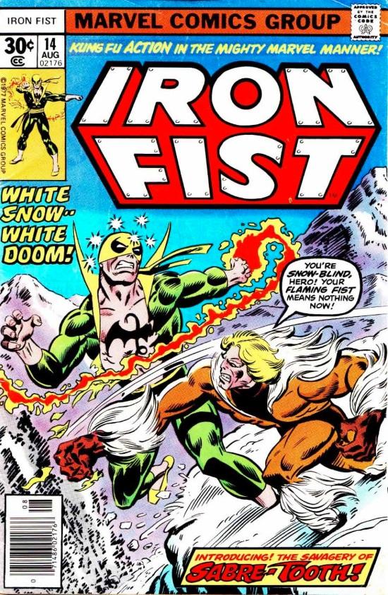 Portada de Iron Fist #14, obra de Dave Cockrum y Al Milgrom