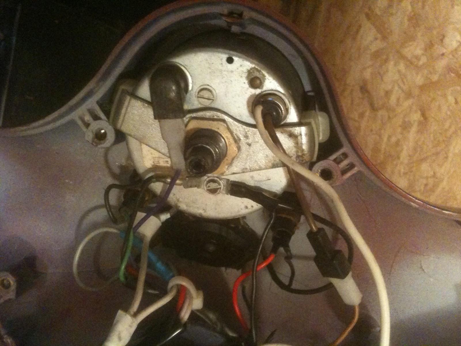 1980 Vespa P200e Wiring Diagram Vespa Tinkering Sip Speedometer Install On 1980 Vespa P200e