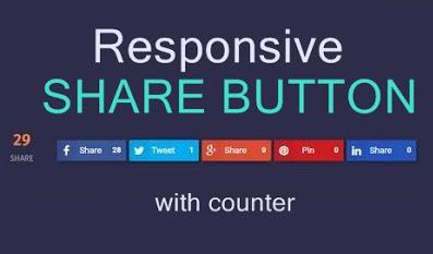 Cara Pasang Tombol Share Di Blogspot Dengan Fitur Counter Keren