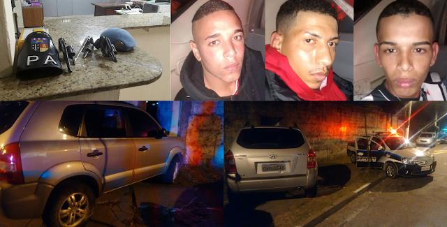 Guarda Civil de Barueri persegue carro e três marginais armados são detidos