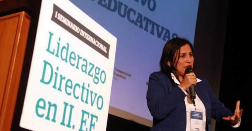 MINEDU: Los directores de colegio deben ser líderes pedagógicos, afirma la Ministra de Educación, Flor Pablo Medina - www.minedu.gob.pe